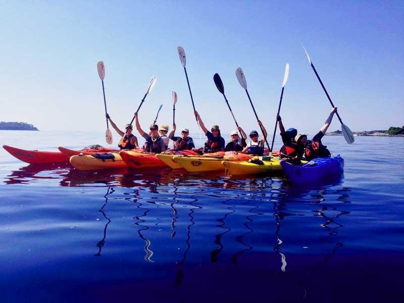 Family Sea Kayaking Vacations Holidays Near Dubrovnik Croatia